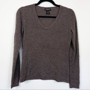 Philosophy Dane Lewis Cashmere Brown V-neck Small